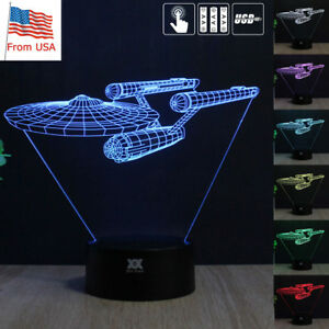 Star Led Uss About Lamp Acrylic Desk Gifts Table 3d Night Details Light Enterprise Touch Trek GUzpLSMjqV