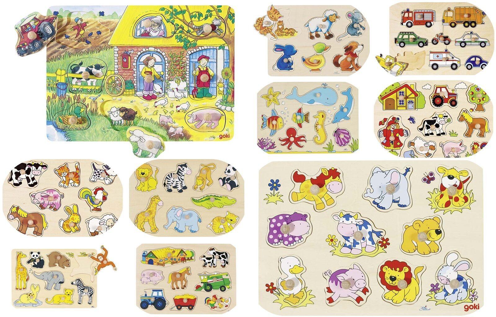NEU GOKI Steckpuzzle Hintergrundbildpuzzle Puzzle 30 x 21 cm 4 Motive OVP