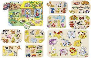 Steckpuzzle Holzpuzzle Puzzle Setzpuzzle Kinderpuzzle Einlegepuzzle Erinnerung Holzspielzeug