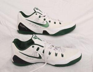 5731b2b5f19e NIKE Kobe IX 9 EM Low White Green Basketball Shoe Men s 17.5 ...