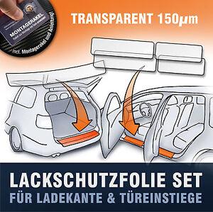 Lackschutzfolie SET (Ladekante & Einstiege Türen) passend für VW Touran (Typ 2T)