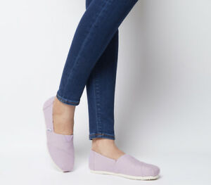 Womens-Toms-Seasonal-Classic-Slip-On-Flats-Soft-Lilac-Flats