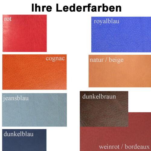 A1 Ausweisetui in 9 Farben lieferbar Rindleder Ausweismappe Ausweishülle Etui