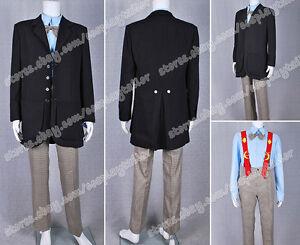Who IS Doctor Cosplay The Second Dr Costume Men Coat Uniform Suit Halloween