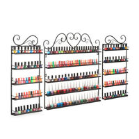 Nail Polish Display Metal Wire Organiser Wall Shelf -up To 120 Bottles,free Ship