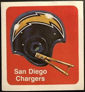 1970-SAN-DIEGO-CHARGERS-Sticker-LARGE-Decal-ORIGINAL-1970-039-s-Free-Shipping-4-X-4