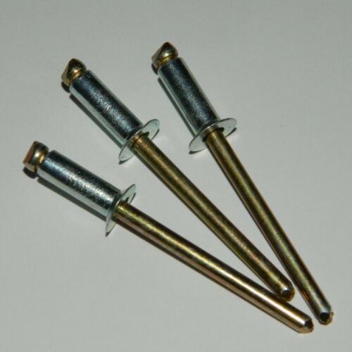 50 Stk Standard Blindnieten 5x20 Stahl//Stahl verzinkt Senkkopf