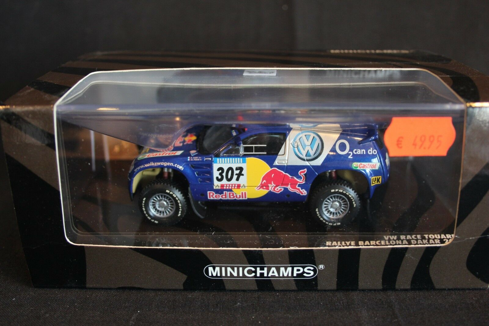 Minichamps VW Race Touareg 2005 1 43 Saby     Périn Dakar Rally 87c320