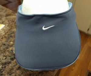 8b04191f56cff Vintage Nike Air Max Sun Visor Hat Stretch Fit One Size Golf Blue
