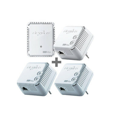 devolo dLAN 500 WiFi Quattro-Kit (500MBit, 4er Kit, Powerline + WLAN)