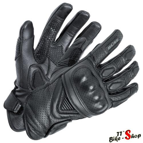 "kurze Handschuhe Größe 11 XXL Büse /""Cafe Racer/"" Motorradhandschuhe in Schwarz"