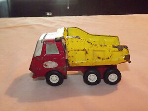 Vintage Toy Truck 1960 70s Tonka Mini Yellow Red Dump Truck Ebay