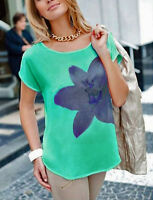 Geniale Bluse Longshirt Gr. 44 46 48 Aqua 928919 Neue Damenmode Top