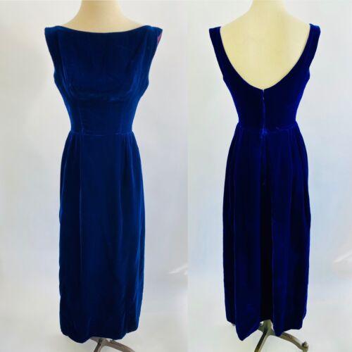 50s Will Steinman Blue Velvet Lined Long Sleeveles