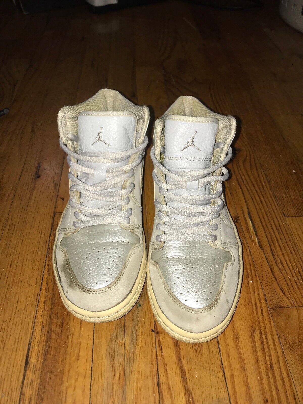 Authentic 2001 Nike Air Jordan 1 Neutral Gray Metallic Silver