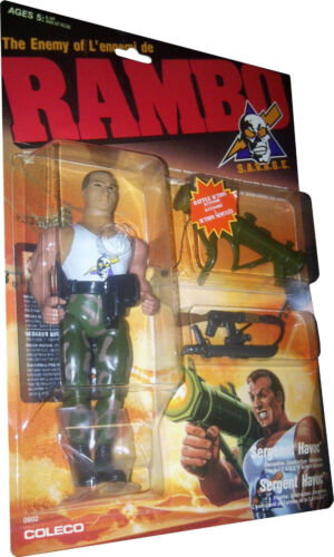 Sergeant Havoc Figure MOSC!! New S.A.V.A.G.E The Enemy of Rambo RAMBO