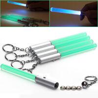 5 X Grün Glowing Leuchtstab Lichtschwert Schlüsselanhänger Helles Licht+batterie