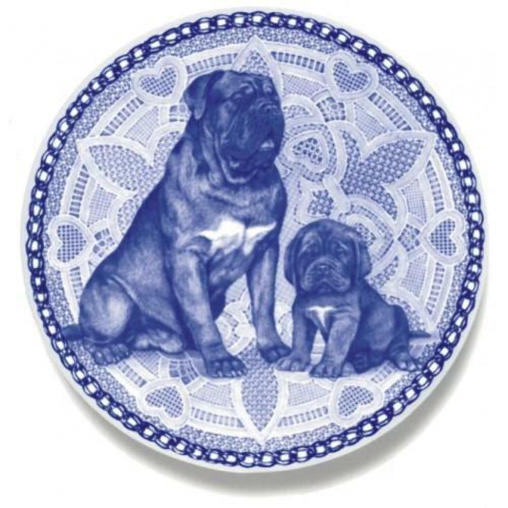 Dogue de Bordeaux - Dog Plate made in Denmark from the finest European Porcelain