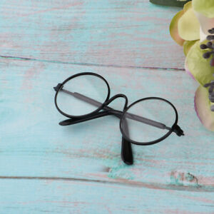 1//6 Gold Round Frame Glasses with Clear Lens for Blythe Dolls Dress Up Accs
