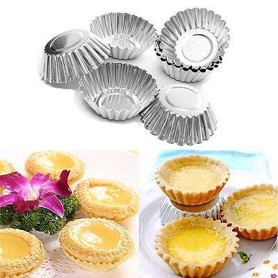 Baking Tool 20PCS Egg Tart Aluminum Cupcake Cake Cookie Flower Mold Mould Tin