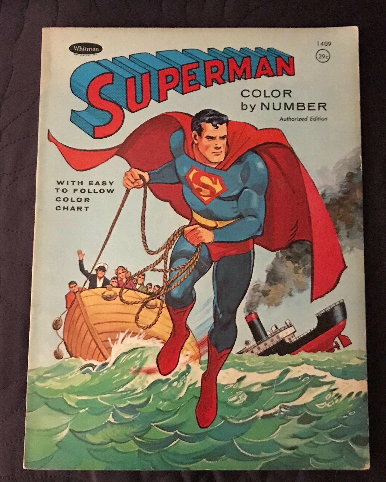 Whitman súperman Color por número 1966 1409 sin usar Dc Comics