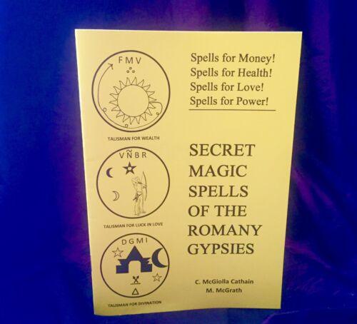 SECRET SPELLS OF THE ROMANY GYPSIES  Finbarr Occult Magic Grimoire Magick