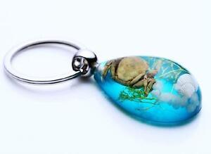 12 PCS Fashion Crab Grass Blue Drop Style Keychain
