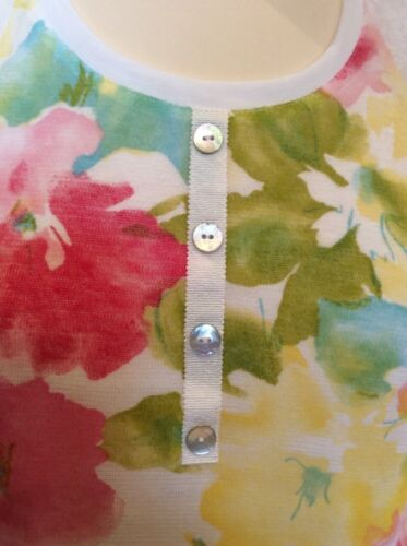 Top Rrp Print Bnwt Gabriel Cream Yellow Tunic £103 Pink Jean Size10 Now £30 xF1Rw
