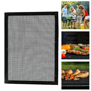 Brillant Barbecue Tapis Bbq Barbecue Treillis Support Backmatte Non-stick Téflon Anti Détention-afficher Le Titre D'origine