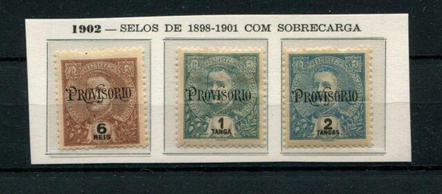 PORTUGAL PORTUGUESE INDIA 1902 CARLOS WITH PROVISORIO SURCHARGE