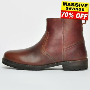 Red Tape LEATHER Tranby Mens Zip Pull On Dealer Biker Boots From £17.99 FREE P&P