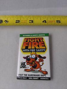 Vintage Walmart Fire Safety Button Pinback Pin *QQ20
