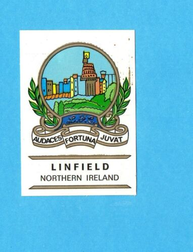 FOOTBALL CLUBS-PANINI 1975-Figurina n.212 SCUDETTO-Rec LINFIELD  IRLANDA NORD