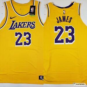 Nike Lebron James LA Lakers Jersey Icon Edition 2020 Gold Mens ...