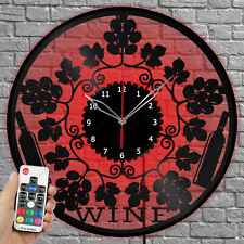 Details about  /LED Clock Panther LED Light Vinyl Record Wall Clock LED Wall Clock 1754