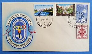 1956 Official Melbourne Olympic Souvenir Cover - 31st October 1956 + PIN