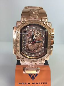 Men-Aqua-Master-Jojo-Joe-Rodeo-Rose-Jesus-Face-genuine-Diamond-Watch-w-323