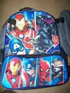 "t Marvel Spider man Groot Hulk Iron Man Captain America Boys Large Backpack 16/"""