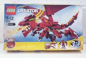 LEGO-CREATOR-6751-Fiery-Legend-Box-Nuovo-di-zecca-in-SIGILLATO-TOY