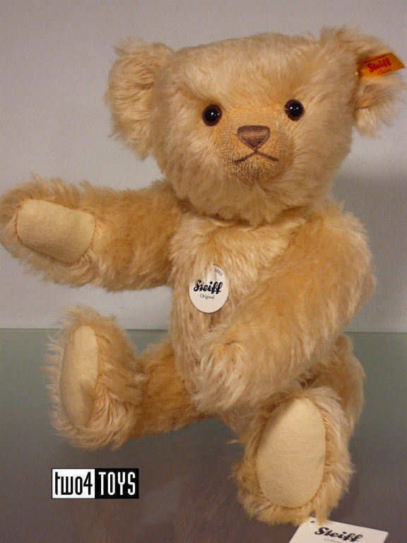 STEIFF CLASSIC TEDDY BEAR LIGHT BLOND MOHAIR - 36cm   14.4in. EAN 000546 RETIrosso