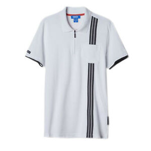 92f157c591070 Adidas Originals Porche 911 Mens Cotton Pique Polo Shirt Top White ...