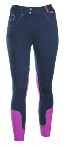 Red Horse Childs Horse Riding Breeches Carmen Slimfit Elastico TWO TONED All Siz
