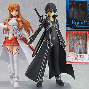 2Pcs-Sword-Art-Online-SAO-Asuna-Kirito-PVC-Action-Figure-Figma-Figurine-Gift-Toy