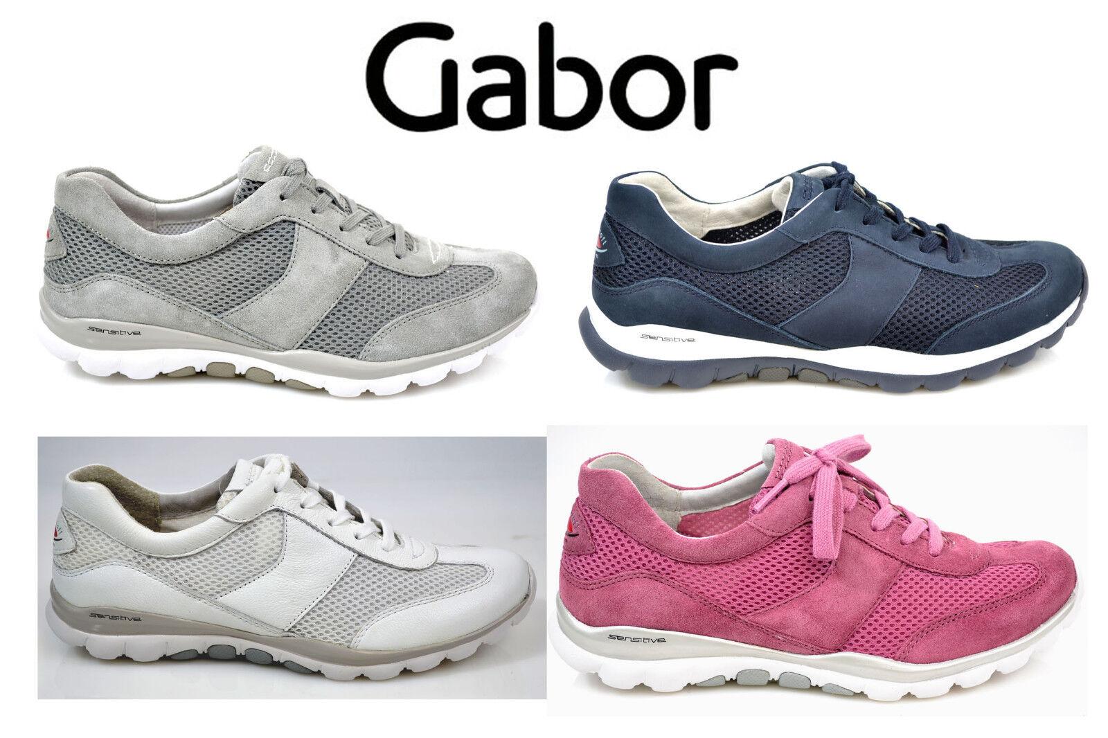 Gabor Comfort Rollingsoft Damen Sneaker Schuhe nightblue fumo hellgrau 86.966.46