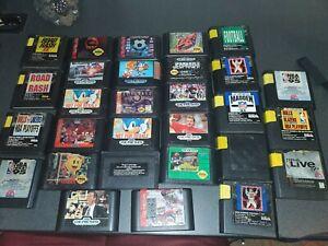 Lot-Of-29-Sega-And-Sega-Genesis-Games-Sonic-Mortal-Kombat-Road-Rash