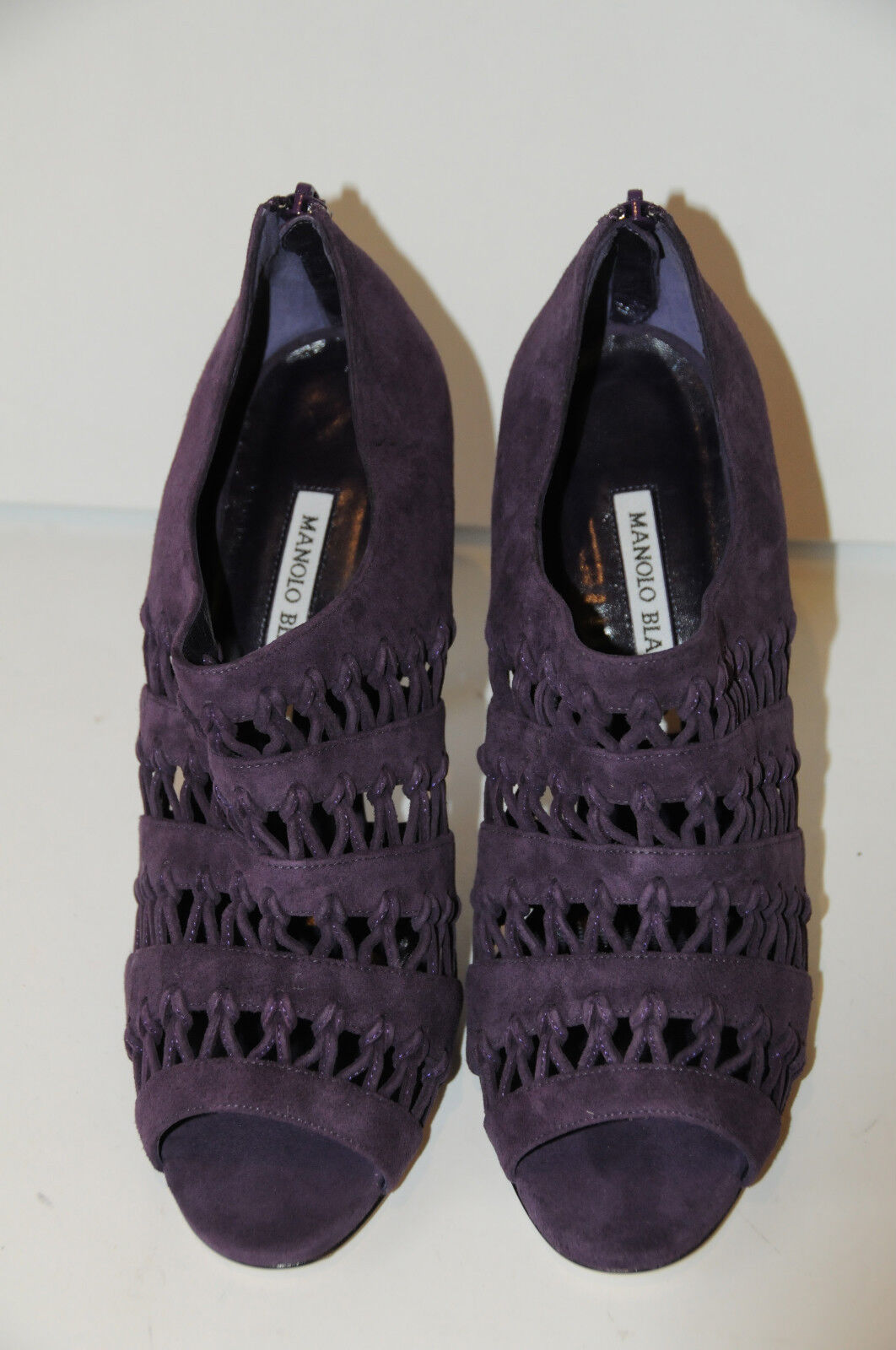 Neu Manolo Blahnik Pila Dk Lila Wildleder-Sandalen Stiefel Stiefel Stiefel Stiefel Schuhe 39.5  ca99dd