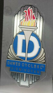07077 Dawes Bicycle Head Badge Sticker Transfer Decal White