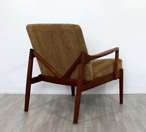 Mid Century Modern Danish 135 Teak Lounge Chair By Tove Edvard