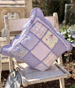 Details zu Kissen Kissenbezug 40x40/50x50 Landhaus Floral Patchwork Vintage  Shabby Chic