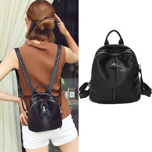 Women-039-s-Small-Mini-Faux-Leather-Backpack-Rucksack-Daypack-Purse-bag-Cute